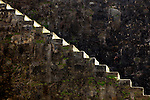USA, Puerto Rico, San Juan. Stairway built into the wall of San Cristobal Fort in Puerto Rico.
