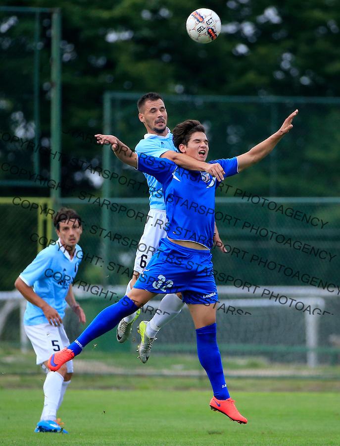 Fudbal Jelen Super League season 2015-2016<br /> Rad v Jagodina<br /> Zoran Mihajlovic (R) and Zoran Ljubinkovic<br /> Beograd, 23.08.2015.<br /> foto: Srdjan Stevanovic/Starsportphoto&copy;