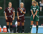 07 September 2007: Texas A&M's Laura Grace Robinson (5), Amber Gnatzig (4), and Kristin Arnold. The University of North Carolina Tar Heels defeated the Texas A&M University Aggies 2-1 at Fetzer Field in Chapel Hill, North Carolina in an NCAA Division I Women's Soccer game, and part of the annual Nike Carolina Classic tournament.