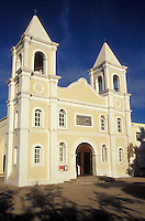 The Iglesia San Jose on Plaza Mijares in the town of San Jose del Cabo, Baja California Sur, Mexico. This church is built on the site of the original 1730 Mision de San Jose del Cabo.