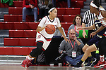 29 December 2016: NC State's Miah Spencer. The North Carolina State University Wolfpack hosted the University of Notre Dame Fighting Irish at Reynolds Coliseum in Raleigh, North Carolina in a 2016-17 NCAA Division I Women's Basketball game. NC State won the game 70-62.