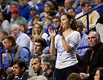UK alumni Ashley Judd claps after a basket during the first half of the men's basketball game vs. LSU at Rupp Arena, in Lexington, Ky., on Saturday, January 26, 2013. Photo by Genevieve Adams  | Staff.