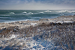 Winter on Coast Guard Beach in the Cape Cod National Seashore, Eastham, MA, USA