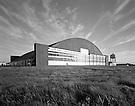 Massive concrete arched hangar.designed for B-36 bomber