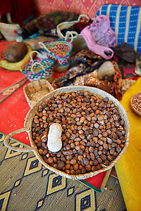 Argan nuts in a cooperative Morocco (Paul Randall Williams)