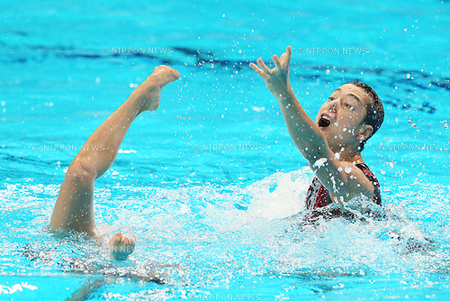 Yumi Adachi & Atsushi Abe (JPN), JULY 30, 2015 - Synchronised Swimming : 16th FINA World Championships Kazan 2015 Mixed Duets Free Routine Final at Kazan Arena in Kazan, Russia. (Photo by Yohei Osada/AFLO SPORT)