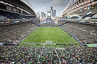 Qwest Field during in a 3-0 Seattle Sounders victory over the New Your Red Bulls, Thursday, March 19, 2009.