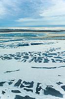Frozen tundra on Alaska's arctic north slope