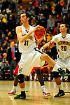 12 December 2010: University of Vermont Catamount forward Clancy Rugg, a Freshman from Burlington, VT, in action against the Marist College Red Foxes at Patrick Gymnasium in Burlington, Vermont. The Catamounts (7-2) defeated the Red Foxes  75-67 notching their 7th win of the season, and their best start since the '63-'64 season. Mandatory Credit: Ed Wolfstein Photo