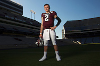 COLLEGE STATION, TX -- Johnny Manziel, quarterback for Texas A&M poses for a portrait on March 26, 2013 in College Station, TX. Photo by Chris Covatta
