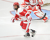 Kasey Boucher (BU - 3) - The Boston University Terriers defeated the visiting University of Windsor Lancers 4-1 in a Saturday afternoon, September 25, 2010, exhibition game at Walter Brown Arena in Boston, MA.