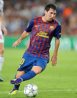 FUSSBALL   CHAMPIONS LEAGUE   SAISON 2011/2012   GRUPPE  H 13.09.2011 FC Barcelona - AC Mailand  Lionel Messi (Barca)