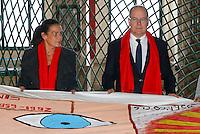 Prince Albert and Princess Stephanie of Monaco attend Courtepointes event - Monaco