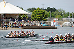 28 MAY 2011: Trinity College I rows towards the finish line during the Petite Eights Final during the 2011 NCAA Division III Women's Rowing Championship hosted by Washington State University held at the Sacramento State Aquatic Center in Gold River, CA. Trinity I placed 1st in the race. Brett Wilhelm/NCAA Photos