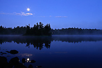 &quot;Moonset Over Sawbill Lake&quot;<br />