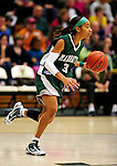 5 December 2009: Manhattan College Jaspers' guard Michelle Pacheco, a Senior from the Bronx, NY, in action against the University of Vermont Catamounts at Patrick Gymnasium in Burlington, Vermont. The Catamounts defeated the visiting Jaspers 78-59 to mark the Lady Cats' second home win of the season. Mandatory Credit: Ed Wolfstein Photo