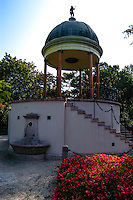 "Budapest, Hungary. The ""Music Well"" (Zenél? kút), a small pavilion on Margaret Island."