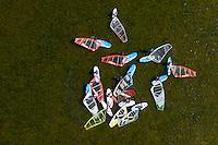 A group of windsurfers on the Bay of Puck (Zatoka Pucka).