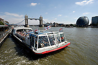 Tour cruise boat on the River Thames