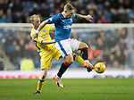 Rangers v St Johnstone&hellip;26.10.16..  Ibrox   SPFL<br />Martyn Waghorn is tackled by Steven Anderson<br />Picture by Graeme Hart.<br />Copyright Perthshire Picture Agency<br />Tel: 01738 623350  Mobile: 07990 594431
