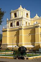 La Merced church side view, Antigua, Guatemala. Antigua is a UNESCO World heritage site...