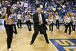 Digger Phelps dances with the UK Pom Squad at ESPN Game Day at Rupp Arena on Saturday, Feb. 13, 2010 . Photo by Britney McIntosh | Staff