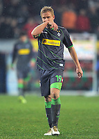 FUSSBALL   1. BUNDESLIGA  SAISON 2011/2012   16. Spieltag FC Augsburg - Borussia Moenchengladbach            10.12.2011 Mike Hanke (Borussia Moenchengladbach)