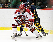 Pier-Olivier Michaud (Harvard - 39), Zach Davies (Quinnipiac - 3) - The visiting Quinnipiac University Bobcats defeated the Harvard University Crimson 3-1 on Wednesday, December 8, 2010, at Bright Hockey Center in Cambridge, Massachusetts.