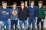 Enjoying Tarbert GAA Night At Dogs at the Kingdom Greyhound Stadium on Friday were Christopher Culhane, Andrew Fitzgerald,  Cathal Brosnan, sean Jameson, Patrick Carmody