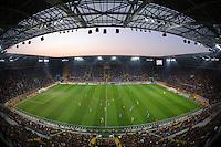 FUER SZ FREI, PAUSCHALE GEZAHLT!!! Fussball, 2. Bundesliga, Saison 2011/12, SG Dynamo Dresden - TSV 1860 Muenchen, Freitag (23.03.12), gluecksgas Stadion, Dresden. Blick in das ausverkaufte Stadion.