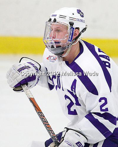 Ryan Barlock (Curry - 2) - The Curry College Colonels defeated the Johnson & Wales University Wildcats 5-4 on Curry's senior night on Saturday, February 18, 2012, at Max Ulin Rink in Milton, Massachusetts.
