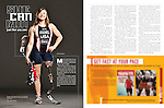 Cover and spreads for USA Triathlon Magazine