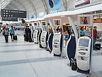 Air Canada electronic check-in kiosks at Toronto Pearson international airport