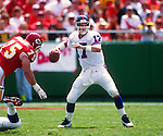KANSAS CITY - SEPTEMBER 10:  Dave Brown of the New York Giants in action during an NFL game against the Kansas City Chiefs on September 10, 1995 at Arrowhead Stadium in Kansas City, Missouri.  (Photo by Ron Vesely)