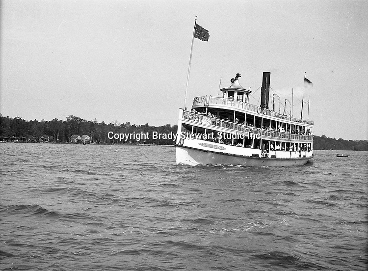 Lake Chautauqua NY:  City of Buffalo Ferry arriving at the Bemus Point Pier - 1901. Photographs taken during a church field trip to Chautauqua Institution in New York (Lake Chautauqua). The Stewart family and friends visited Chautauqua during 1901 to hear Stewart relative, Dr. S.H. Clark  speak at the institute. Alice Brady Stewart chaperoned and Brady Stewart came along to photograph the trip.  The Gallery provides a glimpse of how the privileged and church faithful spent summers at Lake Chautauqua at the turn of the century.