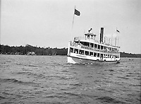 Lake Chautauqua NY:  City of Buffalo Ferry arriving at the Bemus Point Pier - 1901