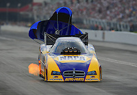 Jun. 18, 2011; Bristol, TN, USA: NHRA funny car driver Ron Capps during qualifying for the Thunder Valley Nationals at Bristol Dragway. Mandatory Credit: Mark J. Rebilas-