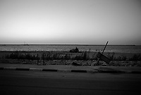 Tripoli, Libya, March 20, 2011.On the second day of the international military intervention, an eerie calm reign over the city, as the regime gets more and more isolated from the rest of the world.