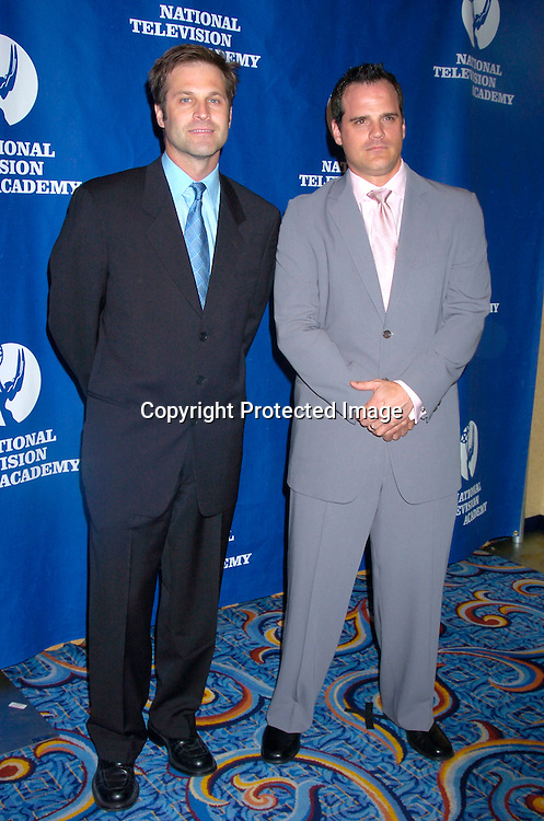 Jon Hensley and Michael Park ..at the Daytime Emmy Creative Craft Awards on May 15, 2004 at the Marriott Marquis Hotel.                                        Photo by Robin Platzer, Twin Images