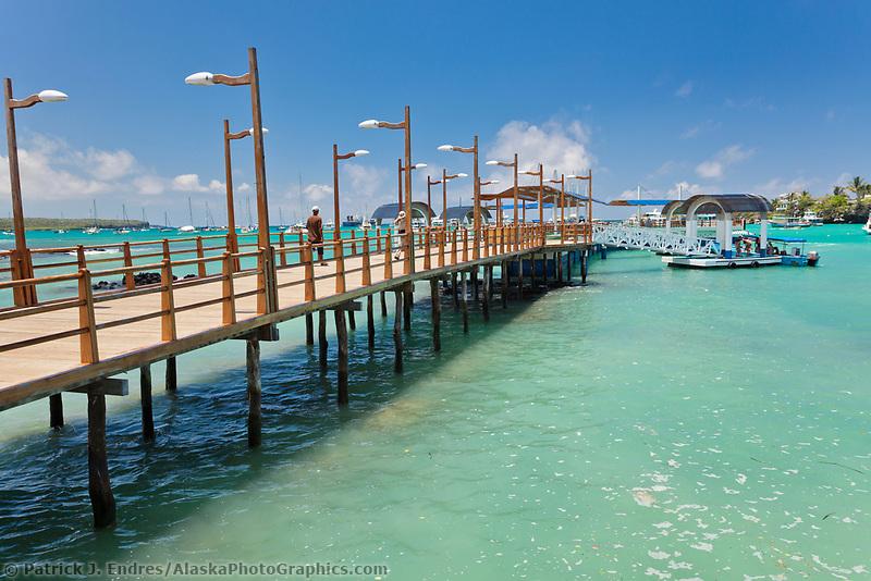 New dock at Puerto Ayora, Santa Cruz Island, Galapagos Islands, Ecuador.