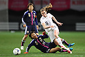 (L to R) Yuki Nagasato (JPN), Heather O'reilly (USA), .April 1, 2012 - Football / Soccer : .KIRIN Challenge Cup 2012 .Match between Japan 1-1 USA .at Yurtec Stadium Sendai, Miyagi, Japan. .(Photo by Daiju Kitamura/AFLO SPORT) [1045]..