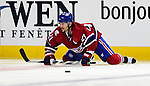 17 October 2009: Montreal Canadiens right wing forward Brian Gionta stretches out prior to facing the Ottawa Senators at the Bell Centre in Montreal, Quebec, Canada. The Senators defeated the Canadiens 3-1. Mandatory Credit: Ed Wolfstein Photo