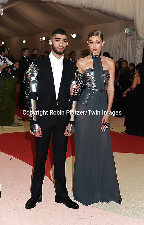 Zayn Malik and Gigi Hadid attends the Metropolitan Museum of Art Costume Institute Benefit Gala on May 2, 2016 in New York, New York, USA. The show is Manus x Machina: Fashion in an Age of Technology. <br /> <br /> photo by Robin Platzer/Twin Images<br />  <br /> phone number 212-935-0770