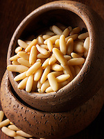 Whole Pine Nut kernals - Stock Photos