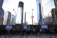 The September 11 Memorial & Museum was visited for more than 1 million people Since it opened to the public Sept. 12, following the 10th anniversary of the terror attacks in New York, United States. 08/12/2011.  Photo by Kena Betancur / VIEWpress.