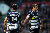 Jack Wallace and Luke Arscott of Bristol Rugby. Greene King IPA Championship Play-off Final (second leg), between Bristol Rugby and Doncaster Knights on May 25, 2016 at Ashton Gate Stadium in Bristol, England. Photo by: Patrick Khachfe / JMP