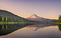 Trillium Lake, Clackamas County, OR. This image is available to be displayed as a very large panorama. Please contact Sankar, if you are interested.