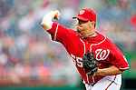 6 June 2010: Washington Nationals' closer Matt Capps on the mound against the Cincinnati Reds at Nationals Park in Washington, DC. The Reds edged out the Nationals 5-4 in a ten inning game. Mandatory Credit: Ed Wolfstein Photo