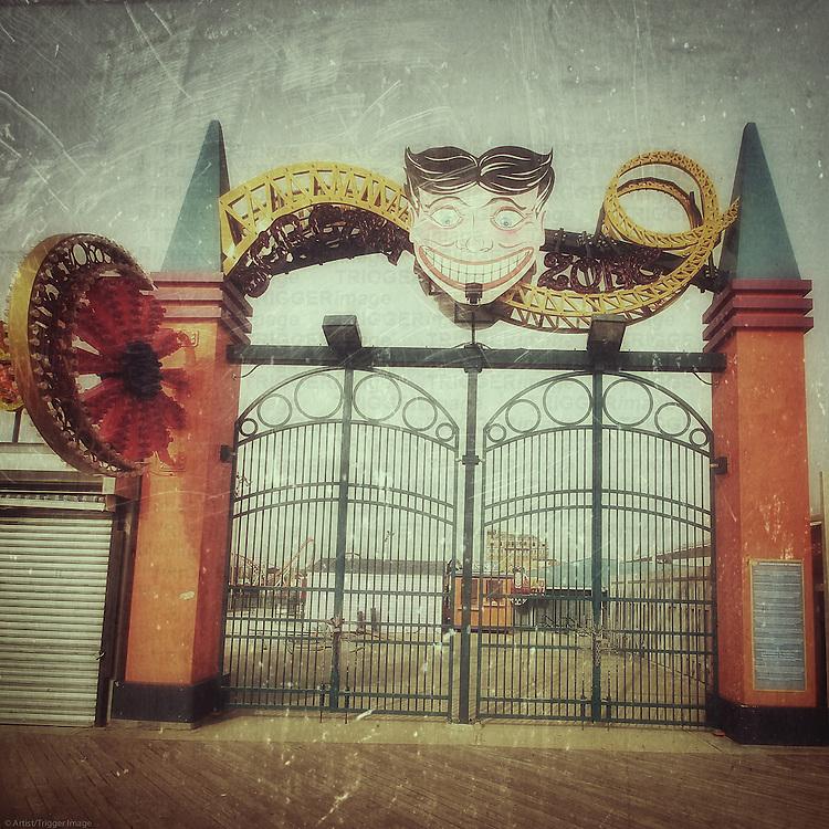 Coney Island amusement park gates