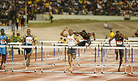 Antwon Hicks winning the 110m hurdles in a time of 13.27 at the Jamaica International Invitational Meet held on May 2nd. 2009.Photo by Errol Anderson, The Sporting Image.net